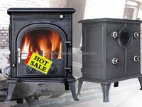 cast iron wood burning stove with back boiler (JA042B)