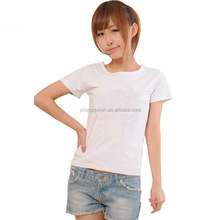 TD46 200 grams round neck T-shirt custom women Slim combed cotton t-shirt wholesale
