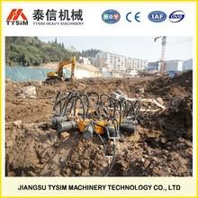 hydraulic pile breaker cutter, cutting pile tooling, KP380A, crushing concrete, cutting pile head machine