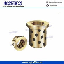 Customize Flanged Bronze Bushing + Graphite