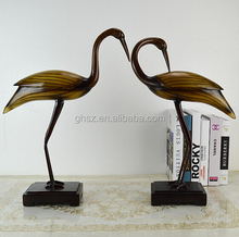 Customized Lucky bird couple resin material birds display