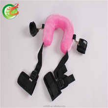 An Sex Toy Fantasy Adjustable Neck Pillow With Ankle Cuffs Made Of Velvet