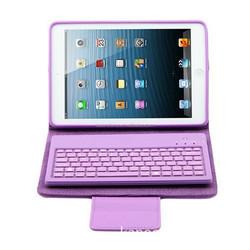 PU Wireless bluetooth 4.1 keyboard with usb port for ipad mini case