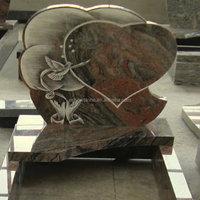 cheap Multicolored granite tombstone, headstone, monument