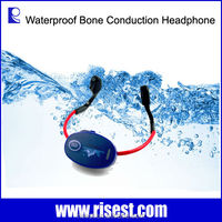 Swimming Training Hearing Aid Bone Conduction Waterproof MP3 Headset FM Receiver