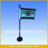 table decoration desk flag pole and plastic stand with music