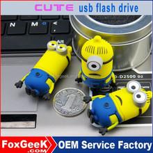 Wholesale usb flash drive 2 gb 1GB 2GB 4GB 8GB 16GB 32GB 64GB 128GB 256GB cartoon character usb flash drive