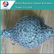 Hebei Baozhou 2015 Best Selling Products Stainless Steel Dinnerware Chainmail Scrubber
