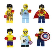 Minions Minion blocks Dave Stuart Movies Minifigures SL8919 Building Bricks Blocks Sets Education Baby Toys LegoCompatible