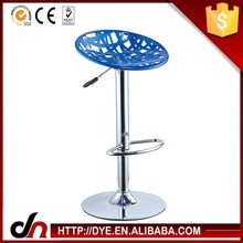 Multi-color durable plastic stool chair,height adjustable bar stool chair,high foot bar stools
