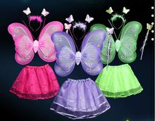 Wholesale beautiful fairy wings hot sale angel wings fashion sets baby butterfly wings HSCC-4019