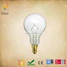 A15 120V40W clear E12 base Fan Light Bulbs Ceiling Fan Incandescent Light Bulb