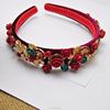 european baroque crystal hair jewelry, bridal flower headband(SWTJU444)