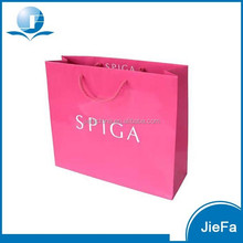 2015 New Design Eco-friendly Pink Paper Bags Wholesale