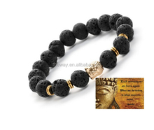 Authentic Buddha Bracelet - Volcanic Lava - Men or Women