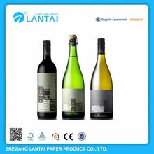Self adhesive personalizadas botella de vino etiqueta