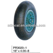 PR3020-1 OEM lawnmower rubber wheel 4.00-8 straight burr for Wheelbarrow