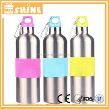 With Silicone Band Promotional Flexible Carabiner Sports Water Bottle