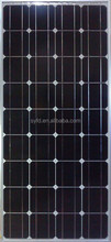 High efficiency 100W 12V mono pv solar panel with TUV CE certificate