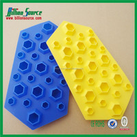 2015 diamond shape silicone ice cube tray of Various colors