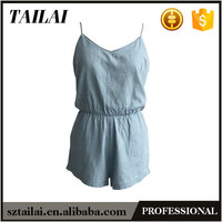 Professional manufacture 2016 new Fashion ladies adult short jumpsuit