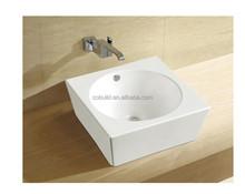 Porcelana branca acima contador rodada bacia Sink CB-45043
