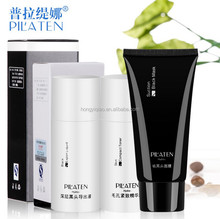 PILATEN Nose Blackhead Remover Peel-Off Mask+Blackhead Export Liquid + Skin Compact Essence ,Black Mud Face Mask 3pcs/set