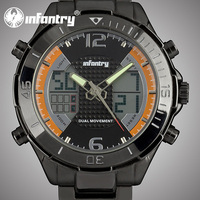 Infantry New Arrival Orange silicone Alarm Military Watch