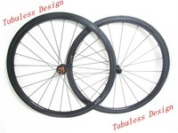 Chinese carbon road bike wheels 38mm tubeless 23mm wide clincher Edhub Sapim cx-ray spoke New U shape Basalt brake surface