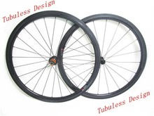 Chinese carbon road bike wheels 38mm tubeless 23mm wide clincher Edhub Sapim cx-ray spoke New U shape Basalt brake surface