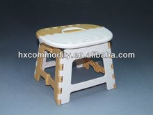 Colorful plastic folding leisure stool for kids