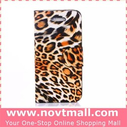 Sexy Tiger Leopard Printed Flip Case with Stand for Iphone 6, Leather Wallet Mobile Phone Case with Card Slots for Iphone 6
