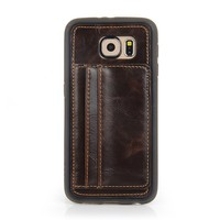 New Arrival PU/TPU Bar Phone Cases with Credit Card Slot for Samsung S6