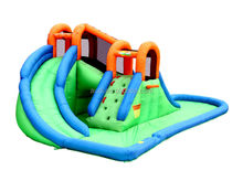 New Island inflatable Water Park with basketball hoop/pool