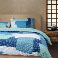 Blue dubai bed sheet queen king size bed set duvet cover 4pcs Japanese polka dot comforter set