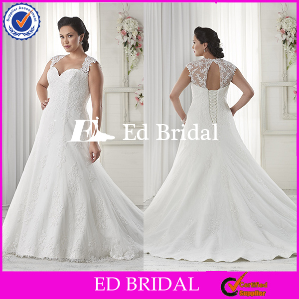 supplier cap sleeve full lace appliqued wholesale wedding dresses