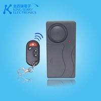 Adjustable sensitivity wireless burglar home vibration detector alarm