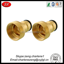 brass / stainless steel cnc machining parts custom exhaust pipe connector / pipe fittings from hardware manufacturer