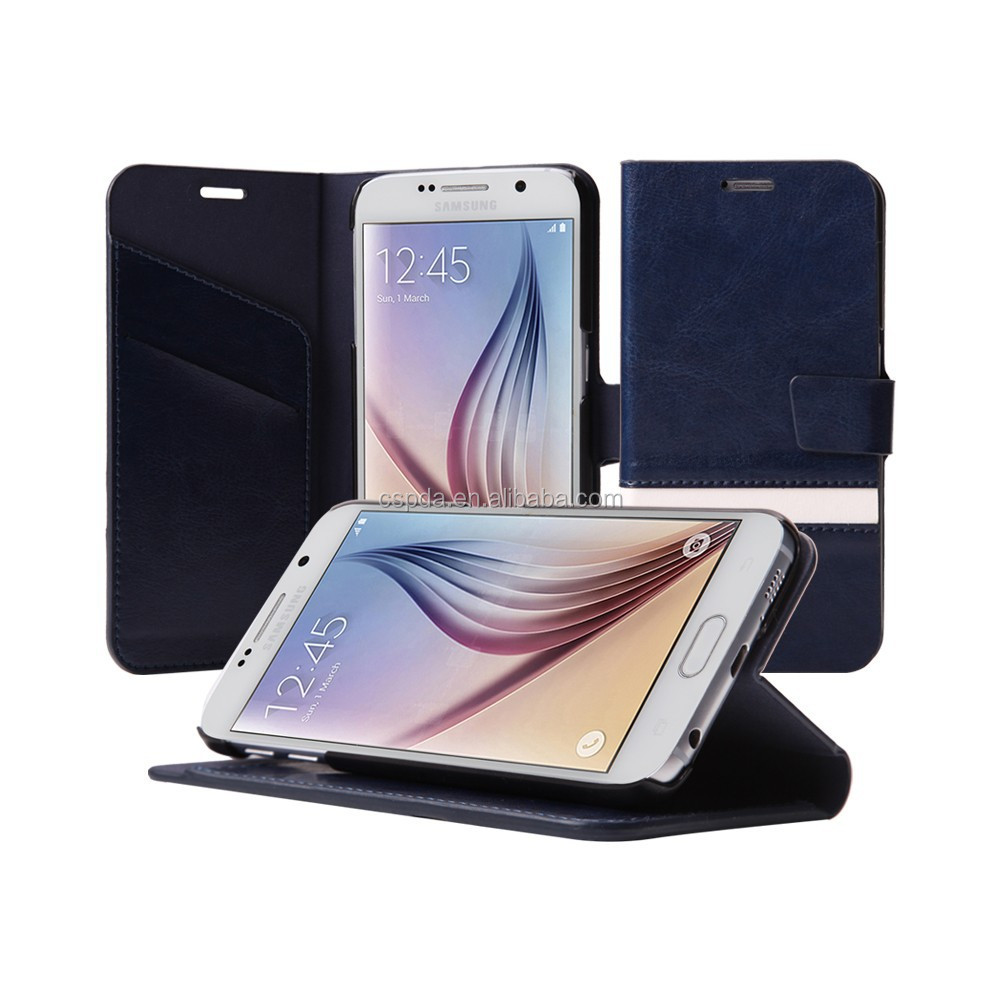 For Samsung Galaxy S6 Wallet Pu Case Leather,Mobile Phone Leather Case For Samsung Galaxy S6 with card slots