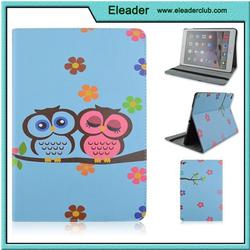 owl painted folio case for ipad 2, slim design for ipad 2 case