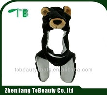 2015 fashion bear plush animal hats