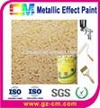 Pintura metalizada - color de oro decorativo de pintura para interior y exterior de la pared