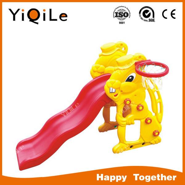 Yql-0500023เด็กกลางแจ้งสไลด์พลาสติกรูปกระต่าย