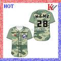 personalizado de alta calidad de poliéster ventas al por mayor sublimada camiseta de béisbol