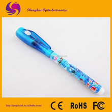 Hot selling invisible ink pen/invisible ink uv pen/invisible ink pen with uv light stationery