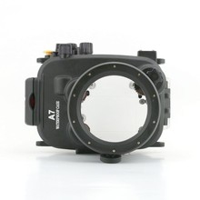 Meikon Newest waterproof digital housing for Sony A7 diving case,with leak alarm designed