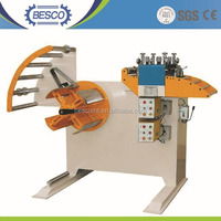 Besco Machinery Compact Sheet Metal staightener cum decoiler/uncoiler machine For Sale(GL-400)