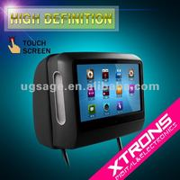 """9"""" Removable Touch Screen Headrest DVD Player with Wireless IR Headphone"""