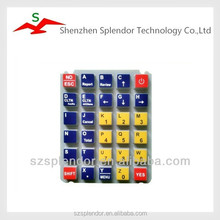 Silicone rubber keypad for Global Position System