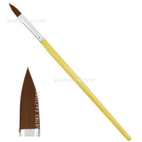 Beauties Factory 1pc Wooden Pro Acrylic Brushes (#10)